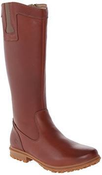 Bogs Women's Pearl Tall Waterproof Leather Boot, Cinnamon