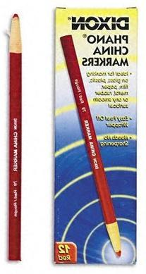 Dixon Peel-Off China Marker, Red, 72-Count