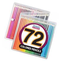 Colored Pencil Set with Case, 7-Inch, Pack of 72 by Top