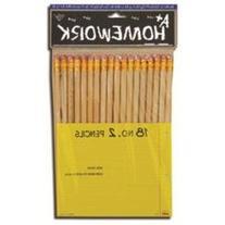 Pencils - Natural Color Barrel - No.2 - 18 Count
