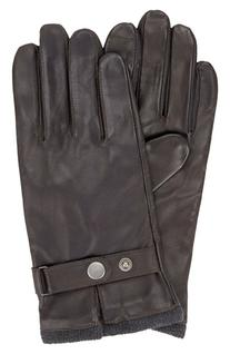 Men's Original Penguin Leather Driving Gloves with Knit