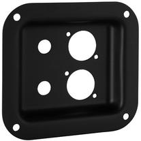"Penn-Elcom D01K Dish Two 1/4"" & Neutrik D Black 4"" x 4-3/8"