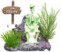 Penn Plax Action-Air Skeleton on Toilet