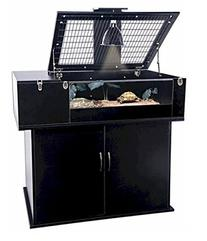 Penn Plax Tortoise Palace with Wire Top, Black Frame and
