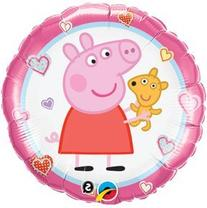 "Peppa Pig 18"" Mylar Foil Teddy Balloon"