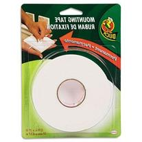 """Duck Permanent Foam Mounting Tape, 3/4"""" X 15Ft, White, Case"""
