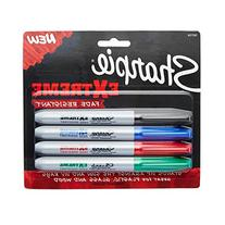 Sharpie Extreme Permanent Markers, 4-Pack, Assorted Colors