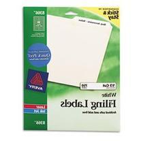 -- Permanent Self-Adhesive Laser/Inkjet File Folder Labels,