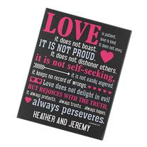 """Personal Creations Personalized """"Love Is"""" Bible Verse Canvas"""