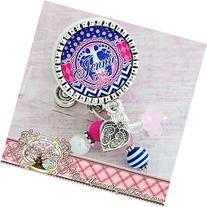 Personalized Footprint Badge Reel- RN Nurse Gifts, Badge