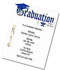 Personalized Graduation Party Invitation