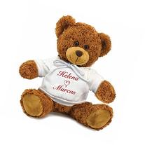 Personalized You and Me Snuggle Teddy Bear - Brown, 13 inch