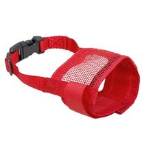 Jardin Pet Anti Bark Chew Mesh Muzzle Mask, X-Small, Red