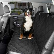 Dog Car Seat Cover - Black Waterproof Non Slip Padded