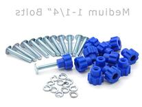 Pet Carrier Fasteners - Blue 16 Pack