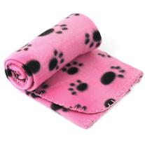 Yonisun Pet Dog Cat Puppy Kitten Soft Blanket Doggy Warm Bed Mat Paw Print Cushion