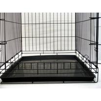24 Pet Folding Dog Cat Crate Cage Kennel w/ABS Tray LC by