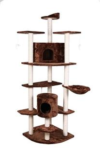 """Confidence Pet 80"""" Palace Cat Tree Scratching Post BROWN"""
