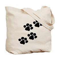 CafePress - Pet Paw Prints Tote Bag - Natural Canvas Tote