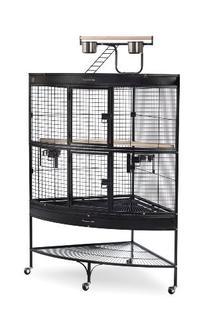 Prevue Pet Products Large Corner Bird Cage 3158BLK Black 45-