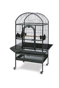 Prevue Pet Products Medium Dometop Bird Cage 3162BLK, Black