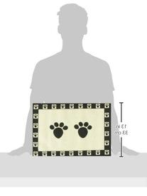 Pet Rageous Designed Tapestry Placemat for Pet Feeding