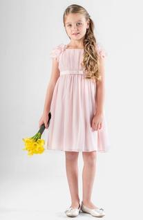 Girl's Us Angels Petal Sleeve Chiffon Dress