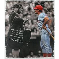 Pete Rose Autographed 28 Inch X 35 Inch Canvas Arguing With