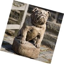 Campania International Petey The Bulldog Cast Stone Garden