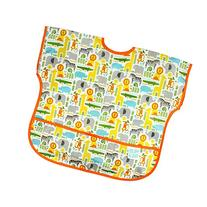 Bumkins Petit Collage Waterproof Junior Bib, Safari Mix
