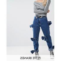 Glamorous Petite Bow Detail Jeans