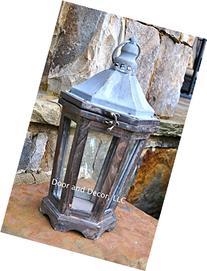 Petite street lantern, rustic lantern, wedding lantern,