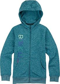 BURTON Girls Phantom Full Zip Hoodie, Pacific Heather, Large