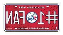 NBA Philadelphia 76ers #1 Fan Metal Auto Tag