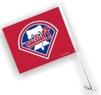 PHILADELPHIA PHILLIES MLB CAR FLAG W/WALL BRACKETT