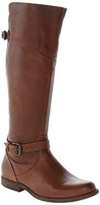 FRYE Women's Phillip Riding Boot,Cognac Soft Vintage Leather