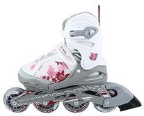 Bladerunner Girls Phoenix 4 Size Adjustable Skate, White/