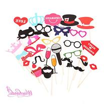 Wisehands Photo Booth Props DIY Kit for Wedding, Birthday,