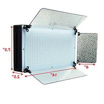 LimoStudio Photo Video Studio 500 LED Barn Door Continuous