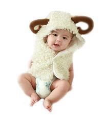 JISEN Baby Newborn Photography Props Handmade Small Cow