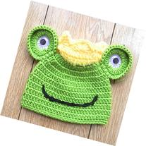 JISEN Newborn Baby Photography Props Handmade Frog Crochet