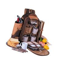 APOLLO WALKER Picnic Backpack for 4 with Cooler Compartment