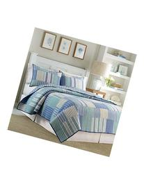 Nautica 'Belle Isle' Pieced Quilt, Size Full - Blue