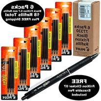 Pilot Frixion Pen Refills 0.7 Mm Fine 77330, Black Gel