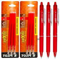 Pilot Frixion Clicker Retractable Erasable Red Gel Ink Pens
