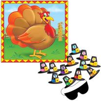 Pin The Hat Turkey Game  Party Accessory