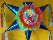PINAT ELMO SEASAME STREET First Year- Piñata Hand Crafted