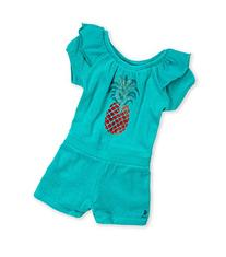 Juicy Couture Kids Girl's Pineapple Terry Romper 2T