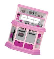 Pink Assembled Toddler Kitchen with 22 Accessories