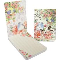 Punch Studio Note Pad Large Flip Pink Blossom Bird